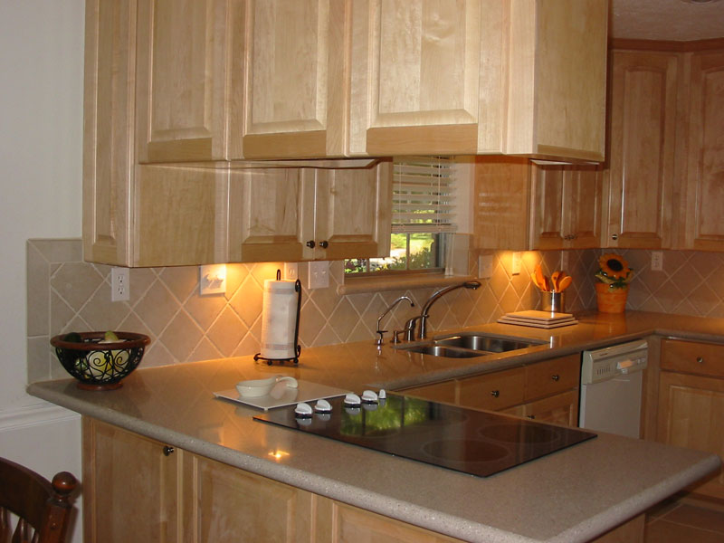 Stained Cabinets Will Sand And Refinish Surface For Clear Finish